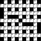 British 11x11 codeword puzzle no.309