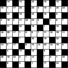 British 11x11 codeword puzzle no.318