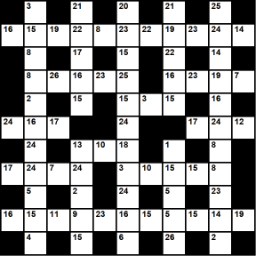 British 11x11 codeword puzzle no.319