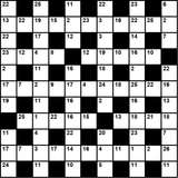 British 11x11 codeword puzzle no.321