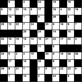 British 11x11 codeword puzzle no.322