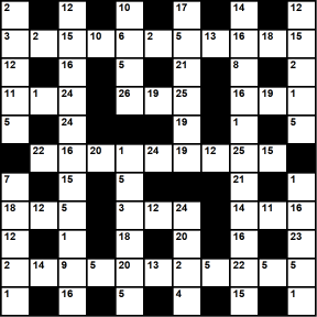 British 11x11 codeword puzzle no.337