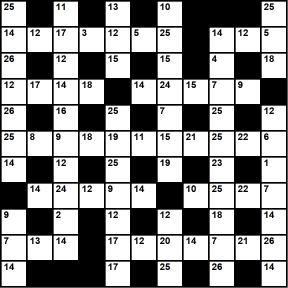 British 11x11 codeword puzzle no.338