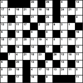 British 11x11 codeword puzzle no.340