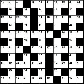 British 11x11 codeword puzzle no.344