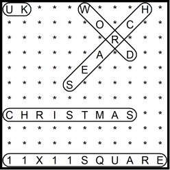 British 11x11 Wordsearch puzzle no.302 - Christmas