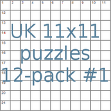 UK 11x11 puzzles 12-pack no.1
