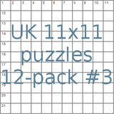 British 11x11 puzzles 12-pack no.3