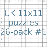 British 11x11 puzzles 26-pack no.1