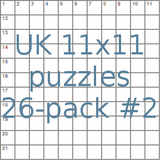 UK 11x11 puzzles 26-pack no.2