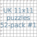 British 11x11 puzzles 52-pack no.1