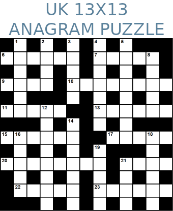 British 13x13 anagram crossword puzzle no.308