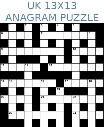 British 13x13 anagram crossword puzzle no.310