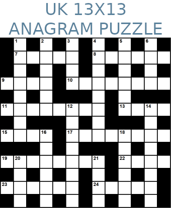 British 13x13 anagram crossword puzzle no.314