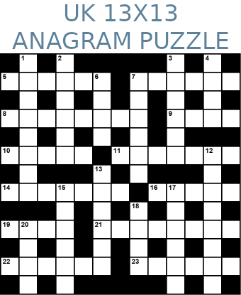 British 13x13 anagram crossword puzzle no.321