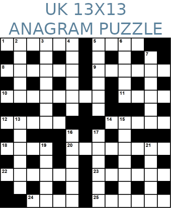 British 13x13 anagram crossword puzzle no.323