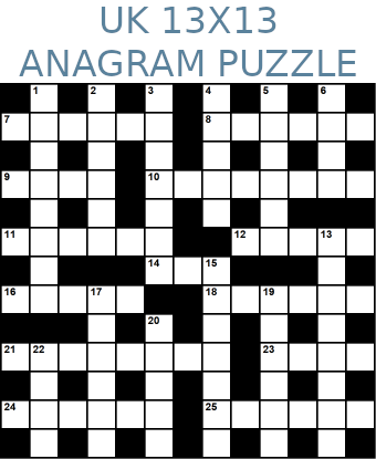 British 13x13 anagram crossword puzzle no.324