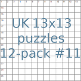 British 13x13 puzzles 12-pack no.11