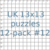 British 13x13 puzzles 12-pack no.12