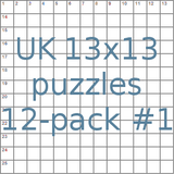 UK 13x13 puzzles 12-pack no.1