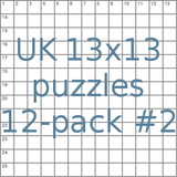 UK 13x13 puzzles 12-pack no.2
