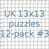 UK 13x13 puzzles 12-pack no.3