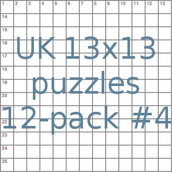 UK 13x13 puzzles 12-pack no.4
