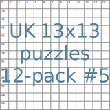 British 13x13 puzzles 12-pack no.5