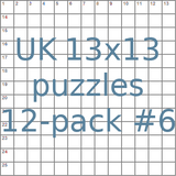 British 13x13 puzzles 12-pack no.6