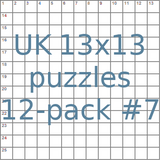 British 13x13 puzzles 12-pack no.7