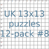British 13x13 puzzles 12-pack no.8