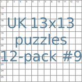 British 13x13 puzzles 12-pack no.9