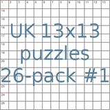 UK 13x13 puzzles 26-pack no.1