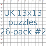 UK 13x13 puzzles 26-pack no.2