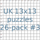 British 13x13 puzzles 26-pack no.3