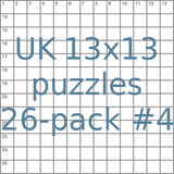 British 13x13 puzzles 26-pack no.4