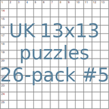 British 13x13 puzzles 26-pack no.5