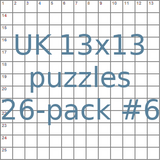 British 13x13 puzzles 26-pack no.6