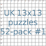UK 13x13 puzzles 52-pack no.1