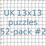 British 13x13 puzzles 52-pack no.2