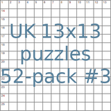 British 13x13 puzzles 52-pack no.3