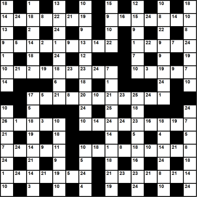 British 15x15 codeword puzzle no.304