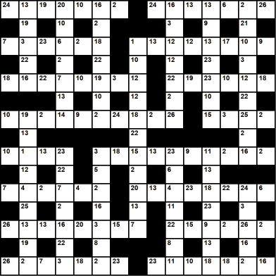 British 15x15 codeword puzzle no.305