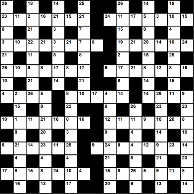 British 15x15 codeword puzzle no.306