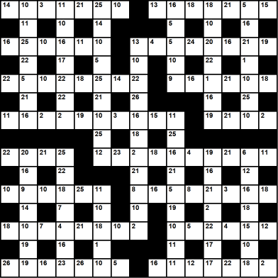 British 15x15 codeword puzzle no.307