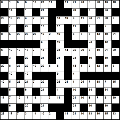 British 15x15 codeword puzzle no.311