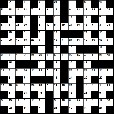 British 15x15 codeword puzzle no.312