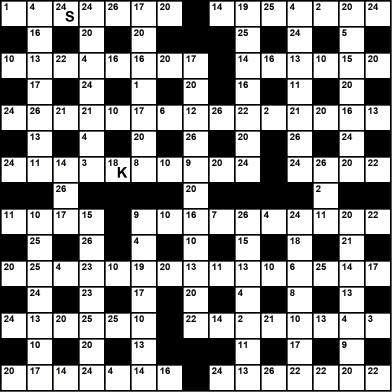 British 15x15 codeword puzzle no.324