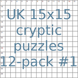 UK 15x15 cryptic puzzles 12-pack no.1