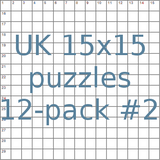 UK 15x15 puzzles 12-pack no.2